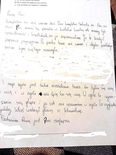 list uczennicy